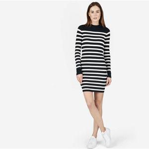 Everlane The Breton  Sweater Dress Striped Cotton